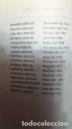 Diccionarios antiguos: DICCIONARI GENERAL DE LA LLENGUA CATALANA - POMPEU FABRA - ANY 1977 - - Foto 4 - 138874334