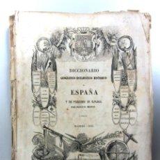 Libri antichi: DICCIONARIO GEOGRÁFICO-ESTADÍSTICO-HISTÓRICO DE ESPAÑA Y SUS POSESIONES DE ULTRAMAR. AÑO 1845. Lote 139518178