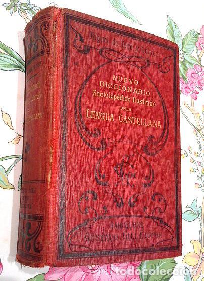 LIBRO ANTIGUO DE 1899, NUEVO DICCIONARIO ENCICLOPÉDICO ILUSTRADO DE LA LENGUA CASTELLANA, M.T.G. (Libros Antiguos, Raros y Curiosos - Diccionarios)