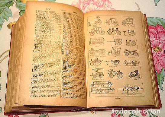 Diccionarios antiguos: Libro antiguo de 1899, Nuevo Diccionario Enciclopédico ilustrado de la Lengua Castellana, M.T.G. - Foto 3 - 140216650