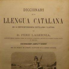 Diccionarios antiguos: DICCIONARI DE LA LLENGUA CATALANA AB LA CORRESPONDENCIA CASTELLANA Y LLATINA - PERE LABERNIA. Lote 140724654