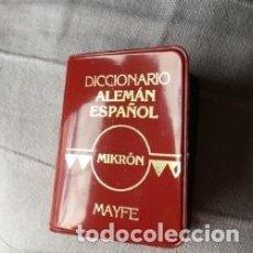 Diccionarios antiguos: DICCIONARIO MIKRON ALEMÁN-ESPAÑOL EN MINIATURA DE 1982. Lote 141337314