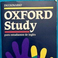 Diccionarios antiguos: DICCIONARIO OXFORD STUDY. ESPAÑOL / INGLÉS E INGLÉS / ESPAÑOL.1305 PAGINAS. Lote 143771902