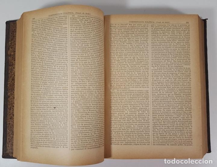 Diccionarios antiguos: DICCIONARIO DE ADMINISTRACIÓN. 6 TOMOS. MARCELO MARTÍNEZ ALCUBILLAS. MADRID. 1892/ 1894. - Foto 10 - 145499218