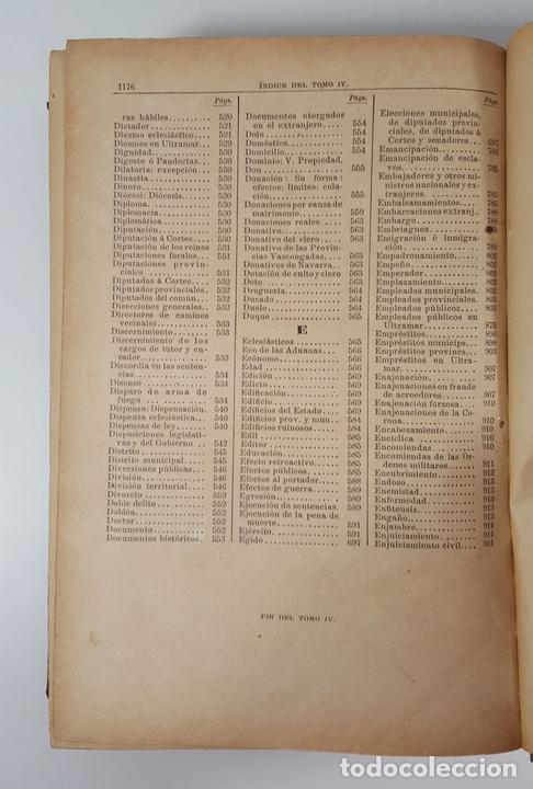 Diccionarios antiguos: DICCIONARIO DE ADMINISTRACIÓN. 6 TOMOS. MARCELO MARTÍNEZ ALCUBILLAS. MADRID. 1892/ 1894. - Foto 14 - 145499218