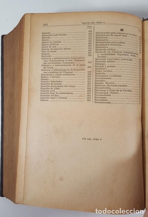Diccionarios antiguos: DICCIONARIO DE ADMINISTRACIÓN. 6 TOMOS. MARCELO MARTÍNEZ ALCUBILLAS. MADRID. 1892/ 1894. - Foto 17 - 145499218