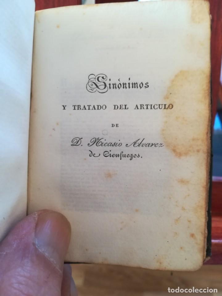 Diccionarios antiguos: SINONIMOS CASTELLANOS-SINONIMOS Y TRATADO DEL ARTICULO-J.L.DE LA HUERTA--1ª EDIC1830- REAL-10X7 - Foto 10 - 146515598