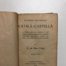 Diccionarios antiguos: ÀNGEL RIUS I VIDAL. NOVÍSSIM DICCIONARI CATALÀ-CASTELLÀ. 1931. Lote 146904878
