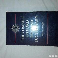 Diccionarios antiguos: THE COMPACT EDITION OF THE OXFORD ENGLISH DICTIONARY. Lote 147481114
