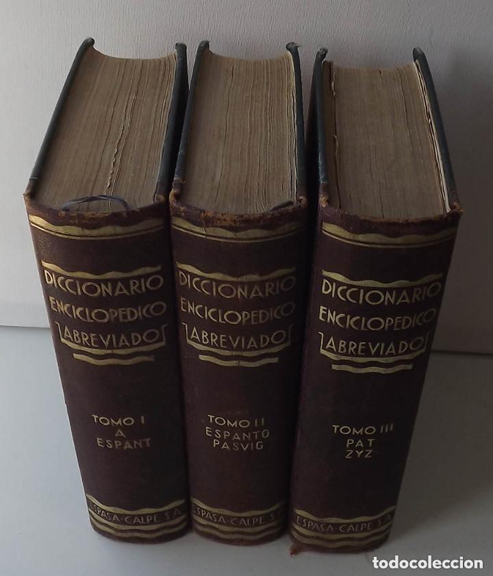 Diccionarios antiguos: Diccionario Enciclopédico Abreviado, Espasa-Calpe, 3 tomos, edición de 1933 - Foto 2 - 197765941