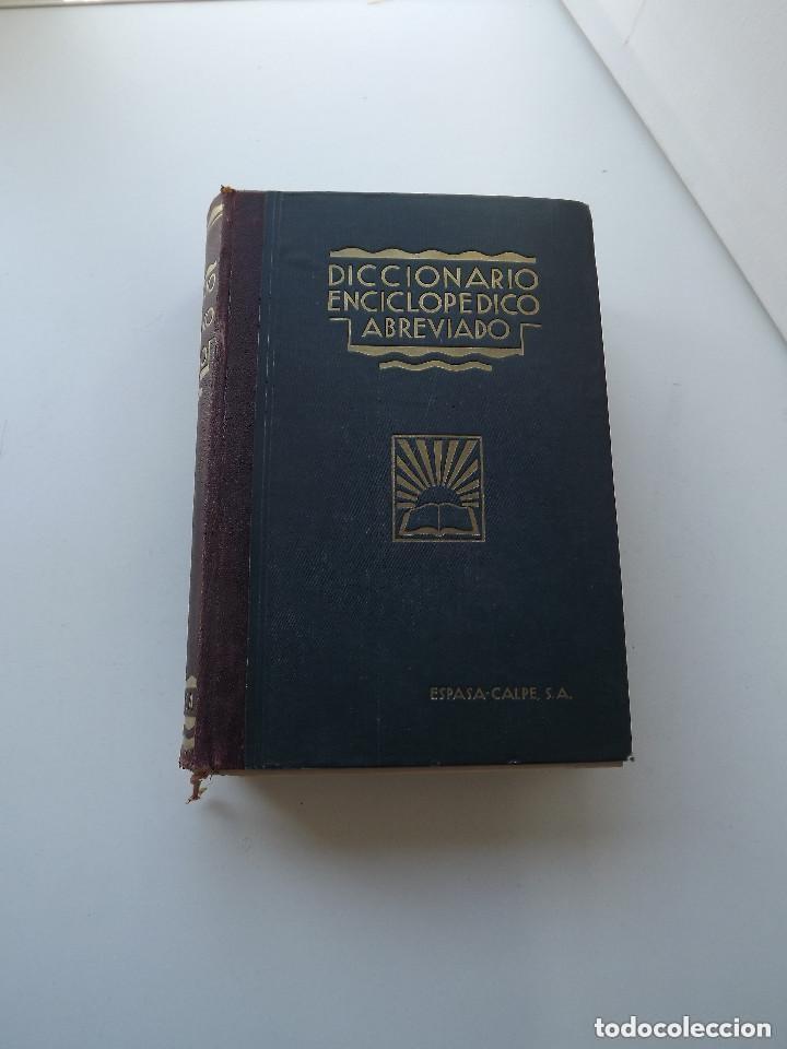 Diccionarios antiguos: Diccionario Enciclopédico Abreviado, Espasa-Calpe, 3 tomos, edición de 1933 - Foto 3 - 197765941