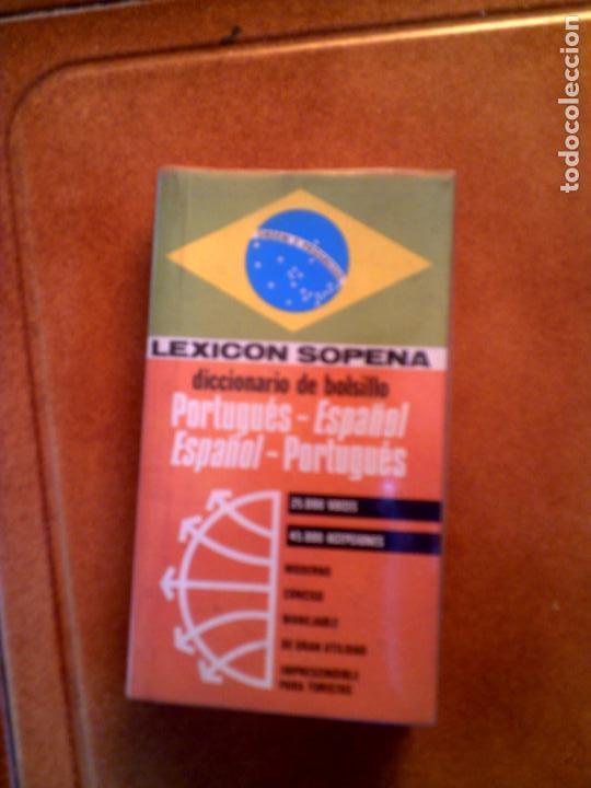 DICIONARIO EN MINIATURA LEXICON SOPENA ,PORTUGES ,ESPAÑOL 1978 (Libros Antiguos, Raros y Curiosos - Diccionarios)