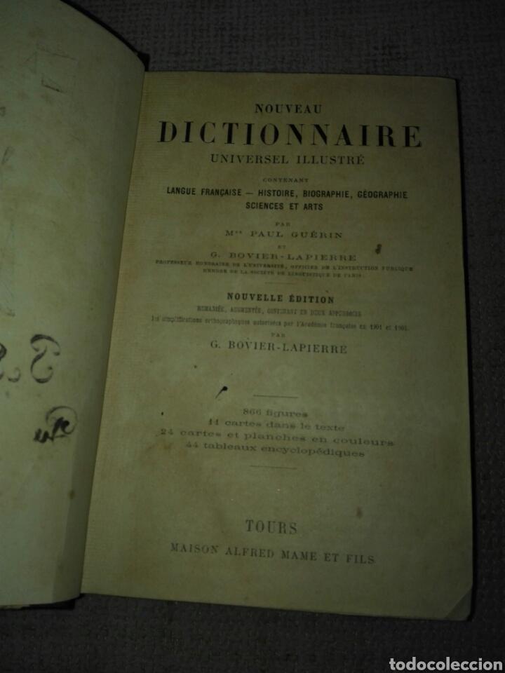 Diccionarios antiguos: GUERIN PAUL - BOVIER LAPIERRE G. NOUVEAU DICTIONNAIRE UNIVERSEL ILLUSTRE . Tours. aprox. 1903. - Foto 3 - 148598312