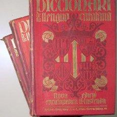 Diccionarios antiguos: DICCIONARI DE LA LLENGUA CATALANA AB LA CORRESPONDENCIA CASTELLANA. NOVA EDICIÓ. ENCICLOPÈDIA IL-LUS. Lote 150803697