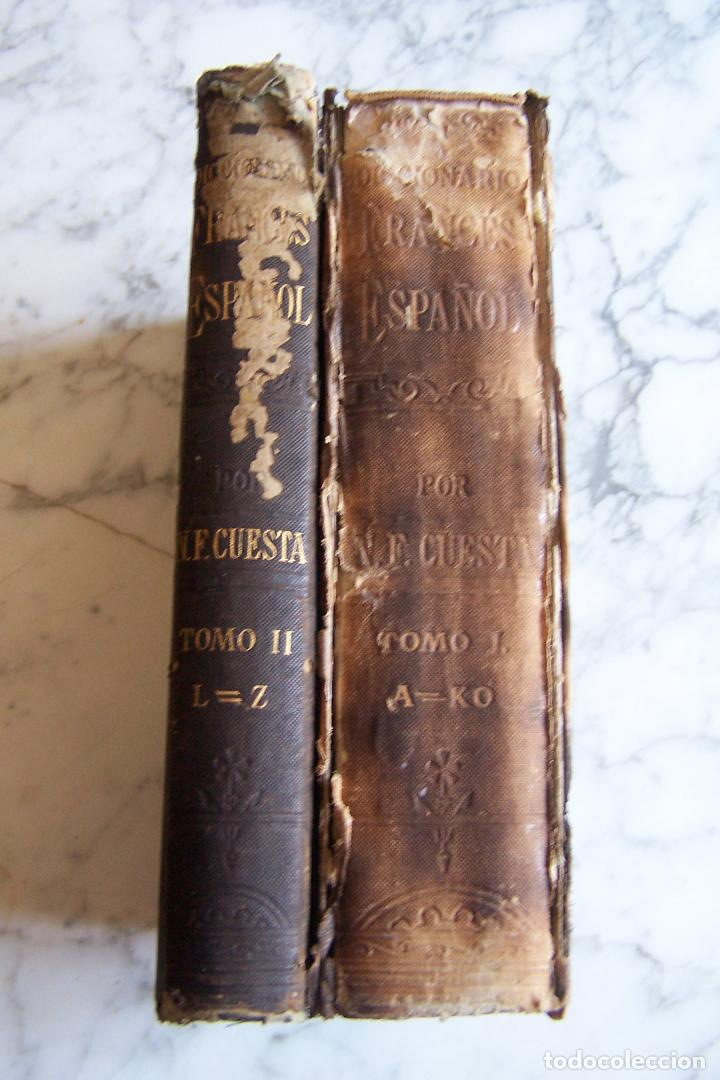 Diccionarios antiguos: DICCIONARIO DE LAS LENGUAS ESPAÑOLA Y FRANCESA. TOMOS I Y II. MONTANER Y SIMÓN, 1885- 86. - Foto 2 - 151376302