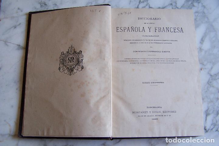 Diccionarios antiguos: DICCIONARIO DE LAS LENGUAS ESPAÑOLA Y FRANCESA. TOMOS I Y II. MONTANER Y SIMÓN, 1885- 86. - Foto 7 - 151376302