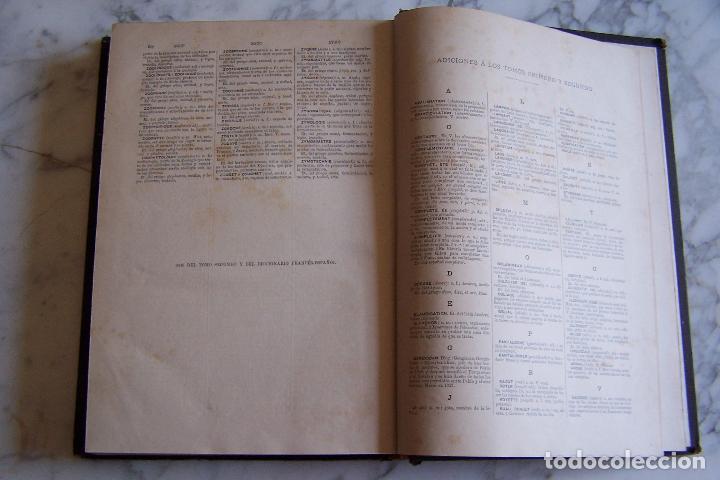 Diccionarios antiguos: DICCIONARIO DE LAS LENGUAS ESPAÑOLA Y FRANCESA. TOMOS I Y II. MONTANER Y SIMÓN, 1885- 86. - Foto 10 - 151376302