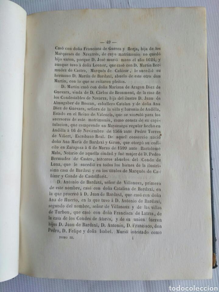 Diccionarios antiguos: Diccionario Histórico Genealógico y Heráldico, D. Luis Vilar y Pascual, 1860 -66. Genealogía. - Foto 19 - 151860282