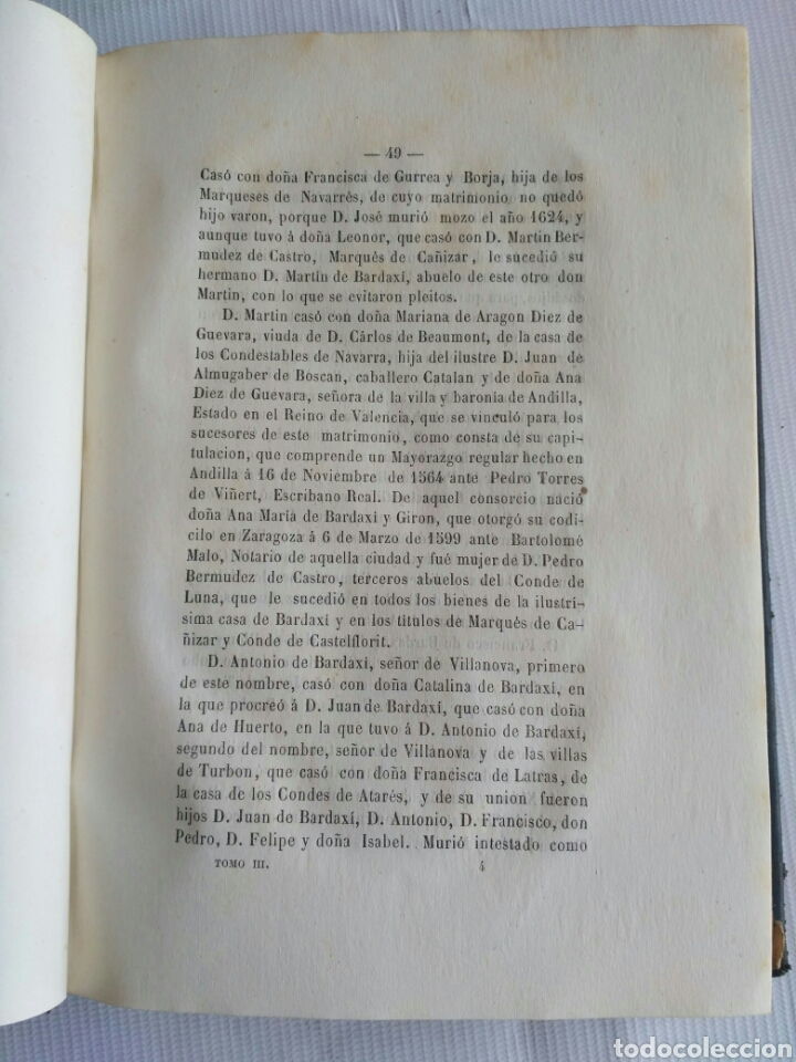 Diccionarios antiguos: Diccionario Histórico Genealógico y Heráldico, D. Luis Vilar y Pascual, 1860 -66. Genealogía. - Foto 28 - 151860282
