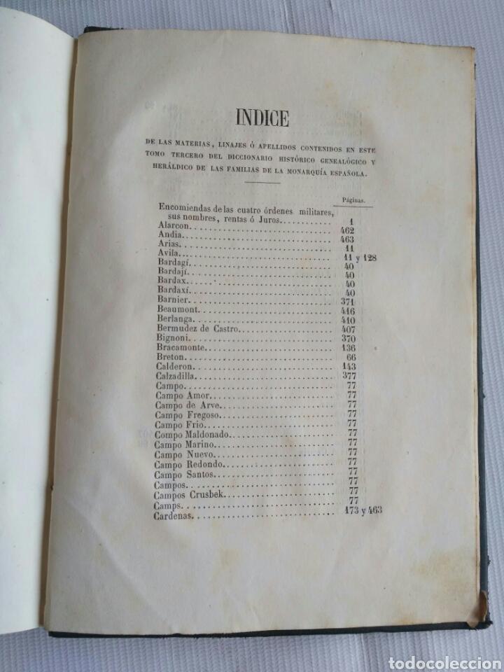 Diccionarios antiguos: Diccionario Histórico Genealógico y Heráldico, D. Luis Vilar y Pascual, 1860 -66. Genealogía. - Foto 47 - 151860282