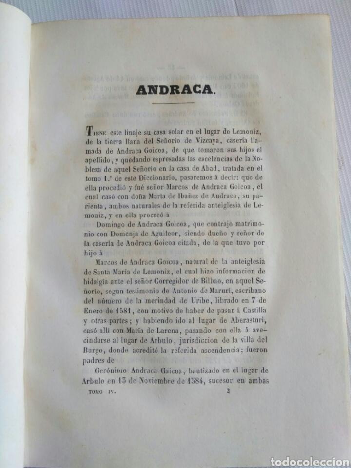 Diccionarios antiguos: Diccionario Histórico Genealógico y Heráldico, D. Luis Vilar y Pascual, 1860 -66. Genealogía. - Foto 69 - 151860282