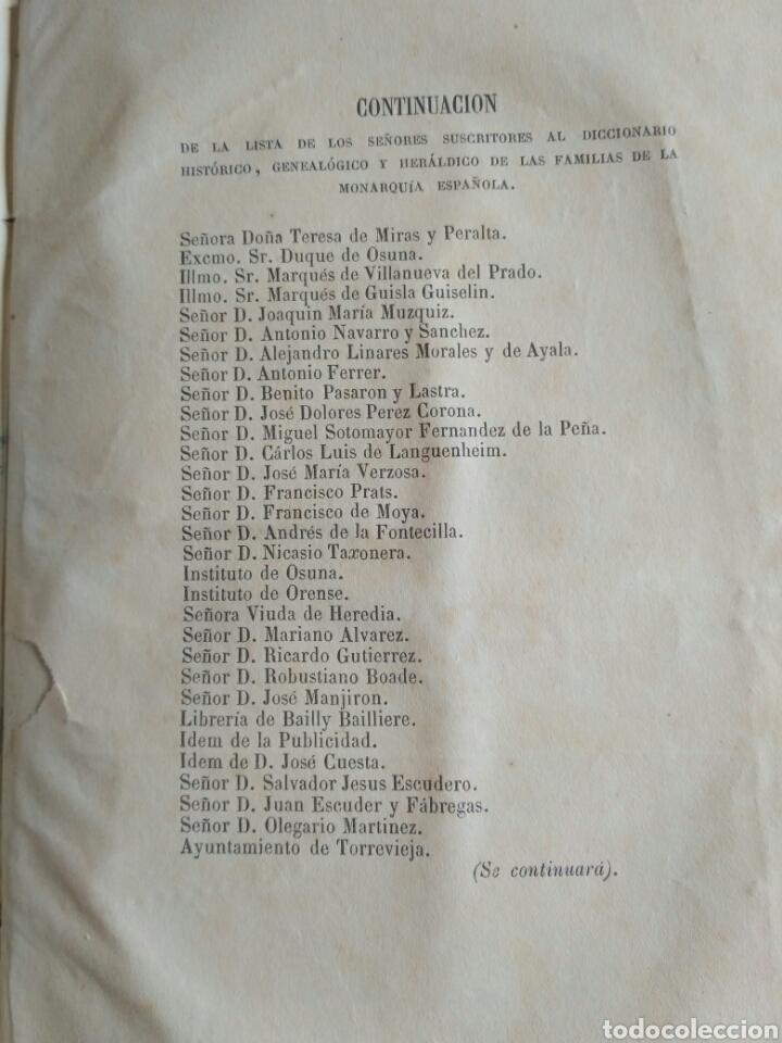 Diccionarios antiguos: Diccionario Histórico Genealógico y Heráldico, D. Luis Vilar y Pascual, 1860 -66. Genealogía. - Foto 113 - 151860282