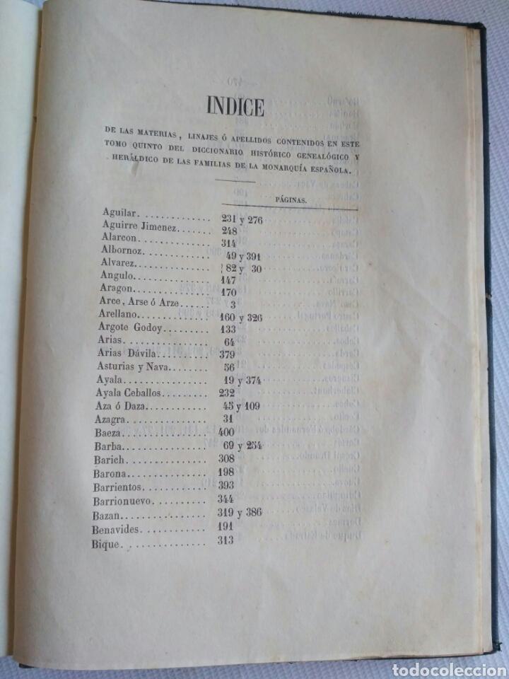 Diccionarios antiguos: Diccionario Histórico Genealógico y Heráldico, D. Luis Vilar y Pascual, 1860 -66. Genealogía. - Foto 185 - 151860282