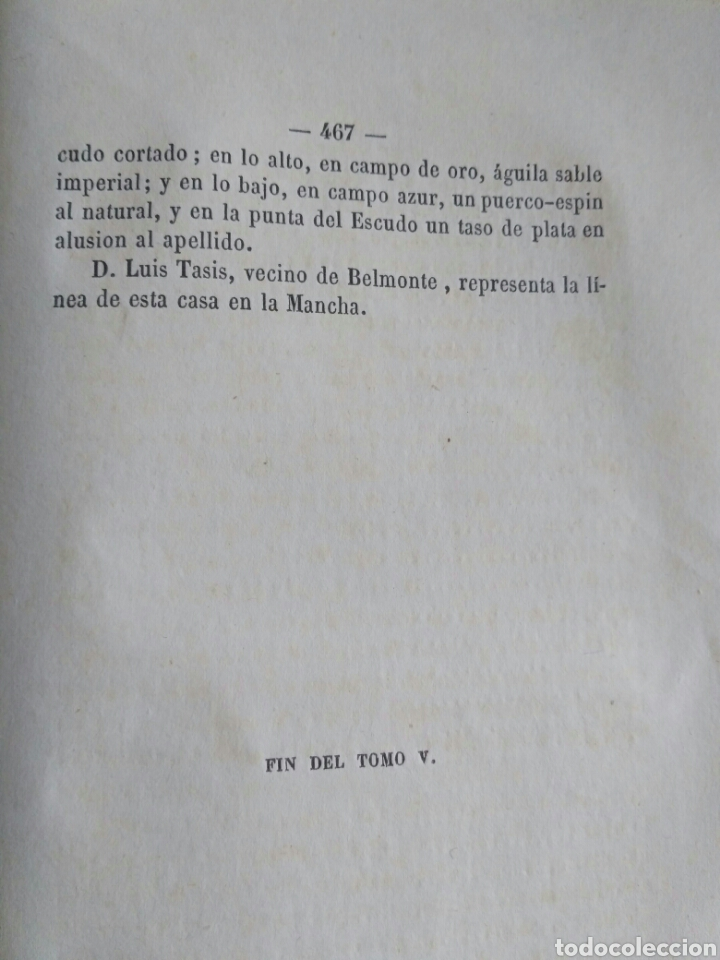 Diccionarios antiguos: Diccionario Histórico Genealógico y Heráldico, D. Luis Vilar y Pascual, 1860 -66. Genealogía. - Foto 198 - 151860282