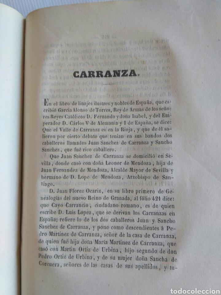 Diccionarios antiguos: Diccionario Histórico Genealógico y Heráldico, D. Luis Vilar y Pascual, 1860 -66. Genealogía. - Foto 254 - 151860282