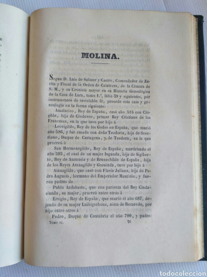 Diccionarios antiguos: Diccionario Histórico Genealógico y Heráldico, D. Luis Vilar y Pascual, 1860 -66. Genealogía. - Foto 255 - 151860282