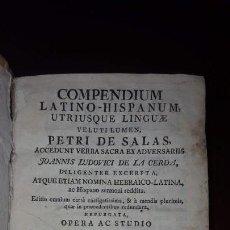 Diccionarios antiguos: COMPENDIUM LATINO-HISPANUM, PETRI DE SALAS, 1787. Lote 152489786
