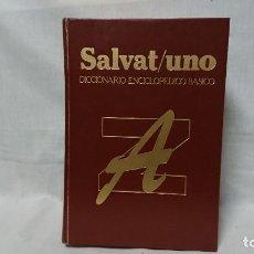 Diccionarios antiguos: DICCIONARIO ENCICLOPÉDICO BÁSICO SALVAT UNO AÑO 1987. Lote 153325254