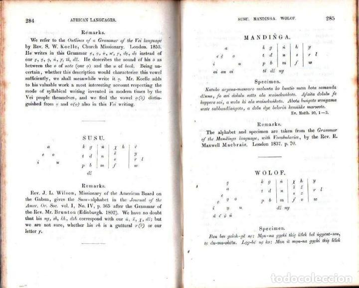 Diccionarios antiguos: LEPSIUS: STANDARD ALPHABET FOR REDUCING UNWRITTEN LANGUAGES AND FOREING GRAPHIC SYSTEMS (1863) - Foto 8 - 153432250