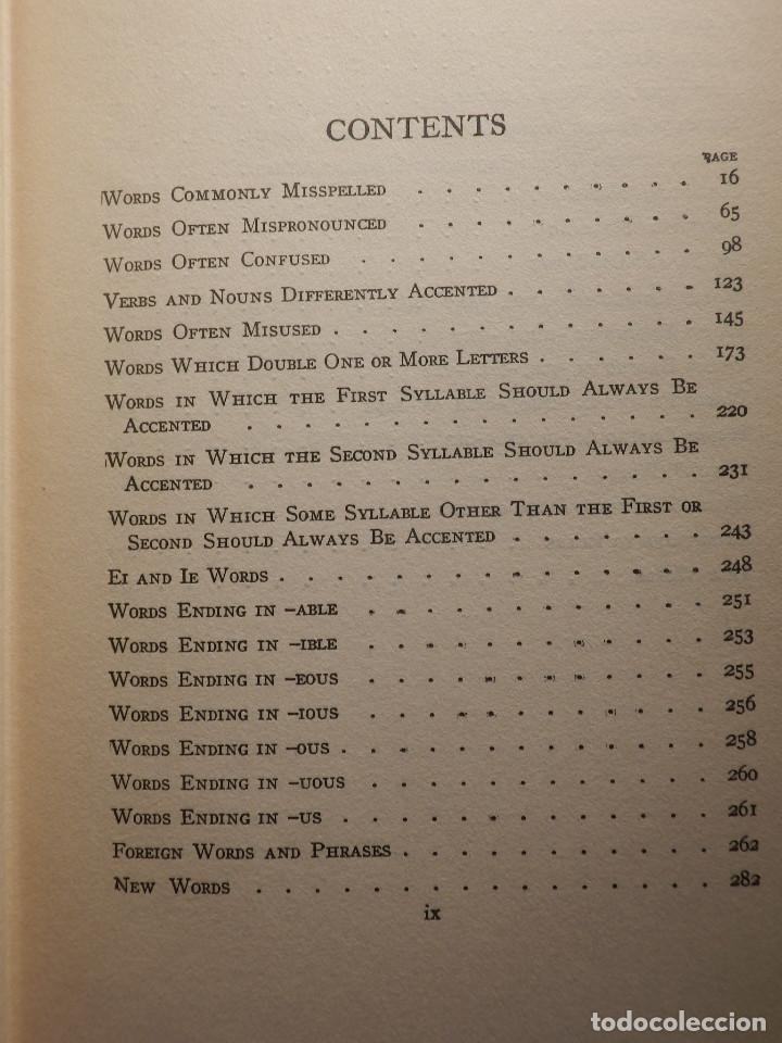 Diccionarios antiguos: Libro - Troublesome Words - 1924 W.L. Mason - Palabras problematicas del Inglés y como usarlas - Foto 4 - 154618418