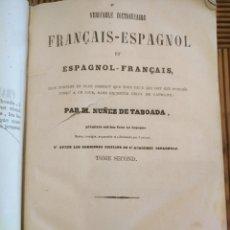 Diccionarios antiguos: DICCIONARIO DE FRANCÉS Y ESPAÑOL 1857 TOMO 2 NUÑEZ DE TABOADA BARCELONA.. Lote 154768588