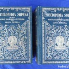 Diccionarios antiguos: ENCICLOPEDIA SOPENA DICCIONARIO ILUSTRADO LENGUA ESPAÑOLA 1.936. Lote 154990094