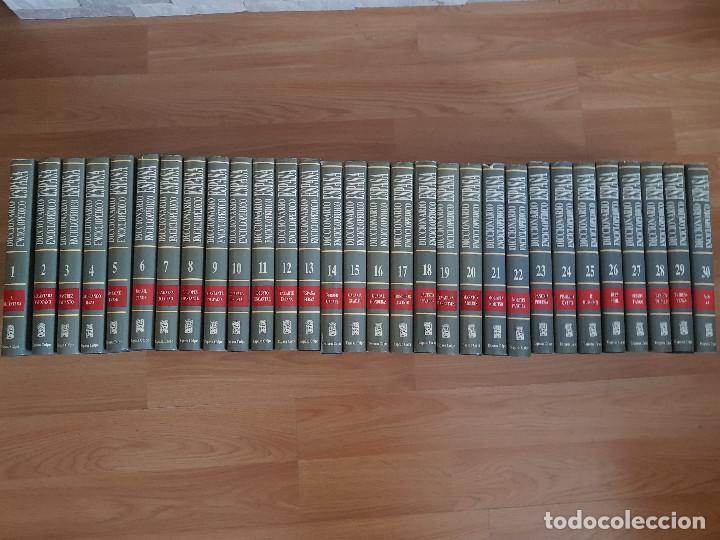 Diccionarios antiguos: DICCIONARIO ENCICLOPÉDICO ESPASA CALPE-30 TOMOS-EDICIÓN DEL AÑO 1992-EXCELENTE ESTADO. - Foto 2 - 155529046