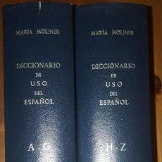 Diccionarios antiguos: DICCIONARIO DE USO DEL ESPAÑOL MARIA MOLINER - 2 TOMOS (GREDOS, 1990). Lote 156669414