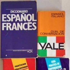 Diccionarios antiguos: DICCIONARIO ESPAÑOL FRANCES VOX,DEUTSCH SPANISCH Y ESPAÑOL INGLES ARGUVAL,ESPAÑOL ITALIANO YALE. Lote 156912566