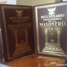 Diccionarios antiguos: DICCIONARIO ENCICLOPEDICO DE LA MASONERIA. FRAU ABRINES. EDITORIAL KIER. LUJOSA ENCUADERNACION.. Lote 157711546