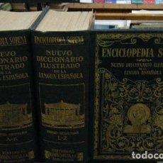 Diccionarios antiguos: ENCICLOPEDIA SOPENA.NUEVO DICCIONARIO ILUSTRADO DE LA LENGUA ESPAÑOLA. 2 TOMOS. A-DICC-219. Lote 194368590