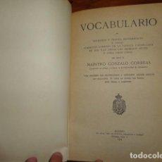 Diccionarios antiguos: VOCABULARIO DE REFRANES Y FRASES PROVERBIALES DEL MAESTRO GONZALO CORREAS EN MADRID 1924. Lote 158264930