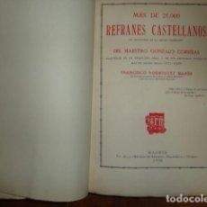 Diccionarios antiguos: MÁS DE 21000 REFRANES CASTELLANOS NO CONTENIDOS EN LA COPIOSA COLECCIÓN DEL MAESTRO GONZALO CORREAS. Lote 158265402