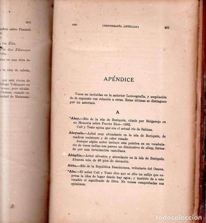Diccionarios antiguos: LEXICOGRAFIA ANTILLANA. ALFREDO ZAYAS Y ALFONSO. HABANA, SIGLO XX. 1914. - Foto 6 - 159470850