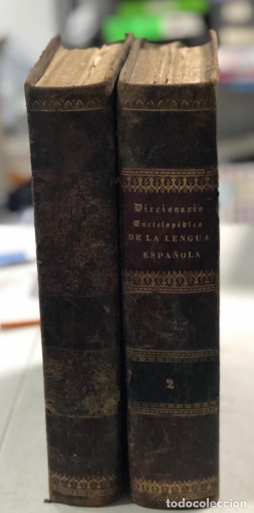 DICCIONARIO ENCICLOPEDICO DE LA LENGUA ESPAÑOLA. POR NEMESIO FERNANDEZ. TOMOS I Y II. MADRID, 1864. (Libros Antiguos, Raros y Curiosos - Diccionarios)