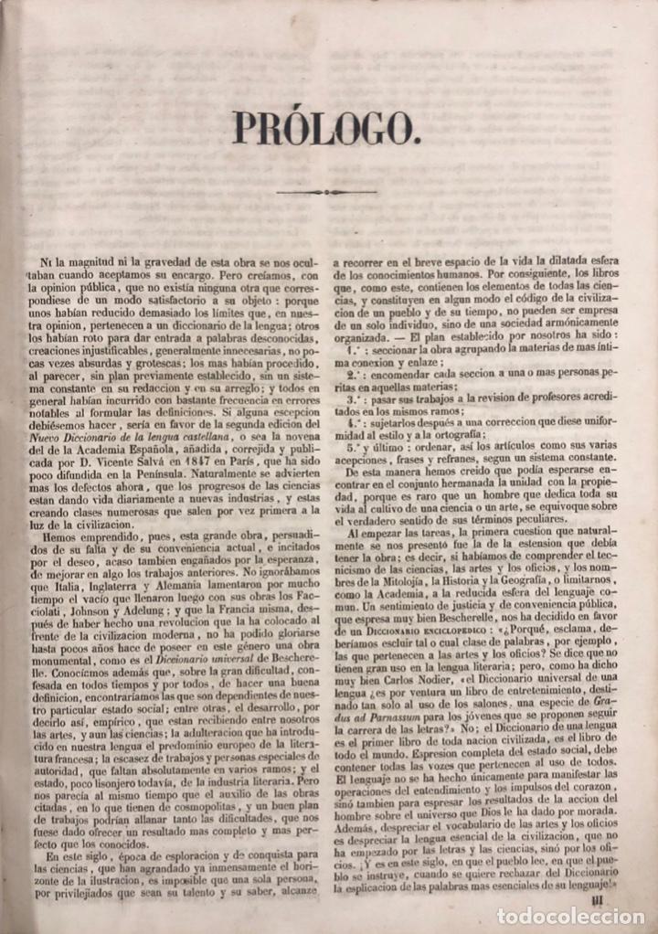 Diccionarios antiguos: DICCIONARIO ENCICLOPEDICO DE LA LENGUA ESPAÑOLA. POR NEMESIO FERNANDEZ. TOMOS I Y II. MADRID, 1864. - Foto 3 - 159950226
