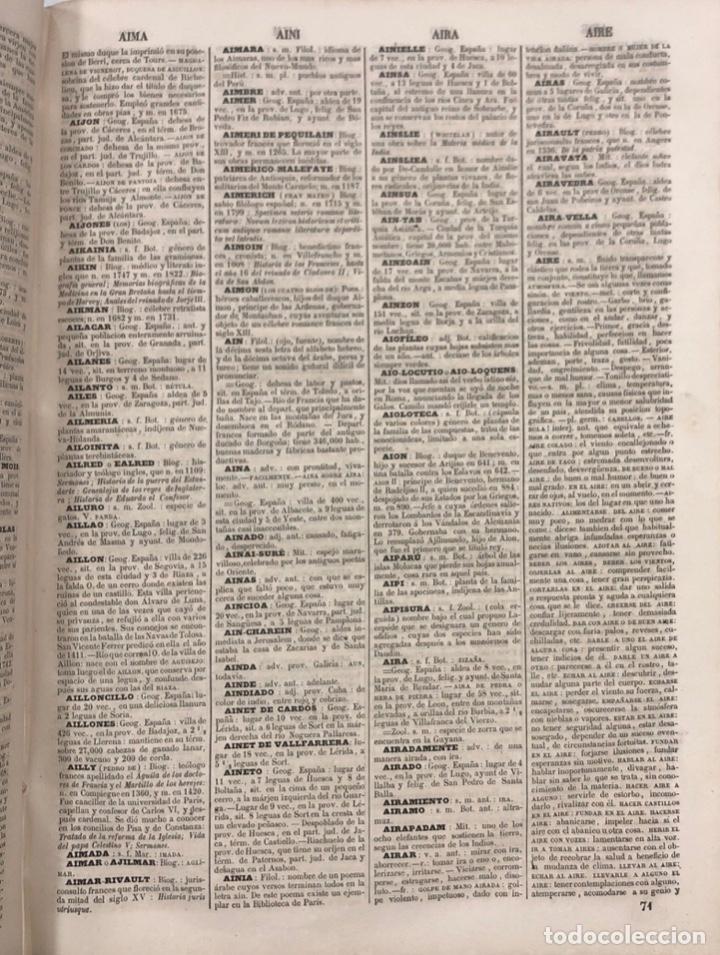Diccionarios antiguos: DICCIONARIO ENCICLOPEDICO DE LA LENGUA ESPAÑOLA. POR NEMESIO FERNANDEZ. TOMOS I Y II. MADRID, 1864. - Foto 4 - 159950226