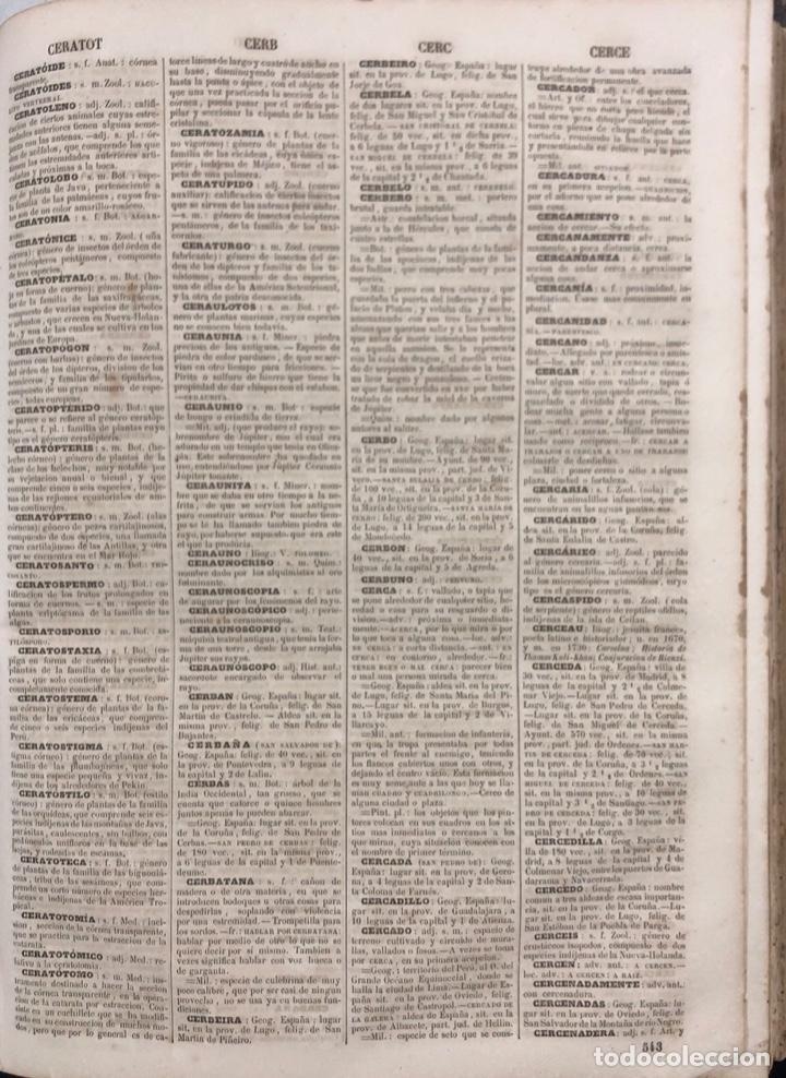 Diccionarios antiguos: DICCIONARIO ENCICLOPEDICO DE LA LENGUA ESPAÑOLA. POR NEMESIO FERNANDEZ. TOMOS I Y II. MADRID, 1864. - Foto 5 - 159950226