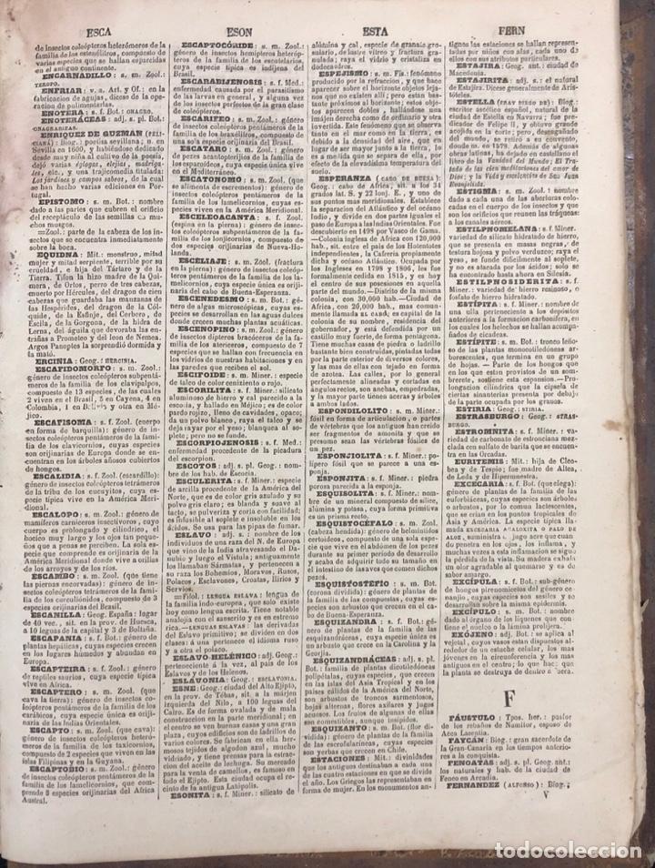 Diccionarios antiguos: DICCIONARIO ENCICLOPEDICO DE LA LENGUA ESPAÑOLA. POR NEMESIO FERNANDEZ. TOMOS I Y II. MADRID, 1864. - Foto 6 - 159950226