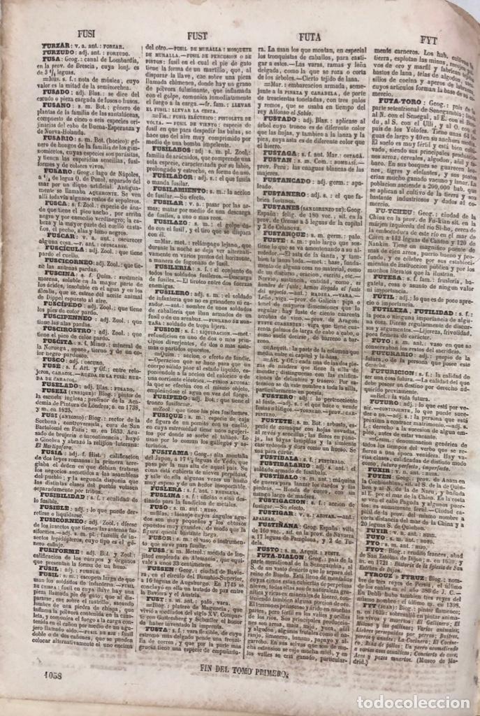 Diccionarios antiguos: DICCIONARIO ENCICLOPEDICO DE LA LENGUA ESPAÑOLA. POR NEMESIO FERNANDEZ. TOMOS I Y II. MADRID, 1864. - Foto 8 - 159950226